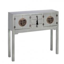 Consola oriental color plata