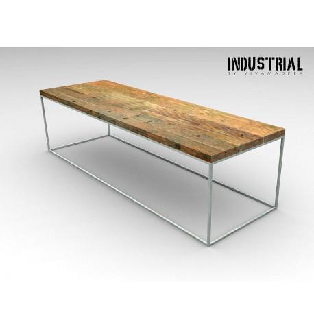 Mesa de centro base 1x1 hierro