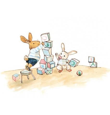 Mural infantil de la colección Bunny s Day Out Coordonné.