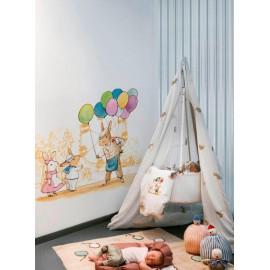 Mural infantil de la colección BUNNYS