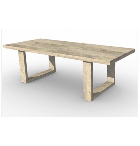 Mesa con patas U