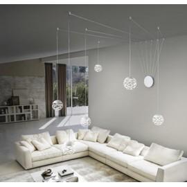Conjunto suspension esferas blanco